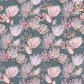 Moody Floral  Pink Magnolias