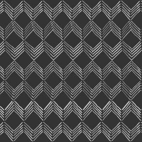 Inky Chevron // white on black