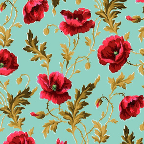 Poppies For Dorothy ~ Chateau  ~ Large