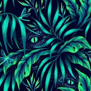 Jurassic Jungle - Emerald Green