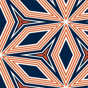 The Navy and the Orange: Diamond Flowers