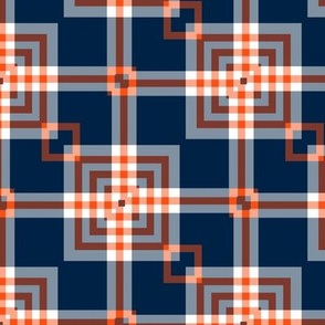 The Navy and the Orange: A Different Plaid
