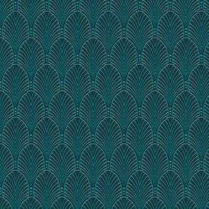Deco Pattern Teal