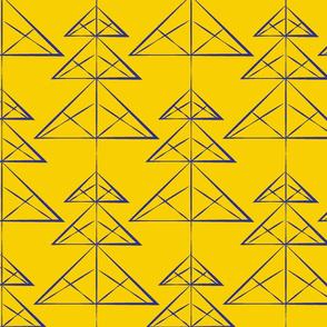 Shibori Yellow Indigo