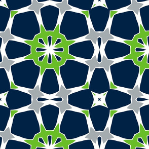 The Navy and the Green: Fancy Trellis