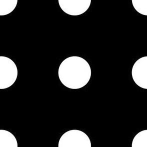 Dots - White on Black large