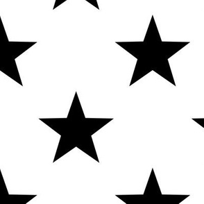 Stars - Black on White large