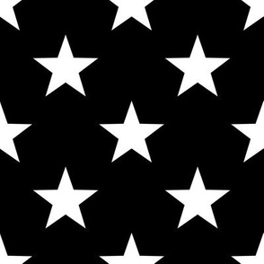 Stars - White on Black small