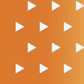 Demon-Slaying Zenitsu White Triangles on Yellow to Orange Gradient Ombre Border Print