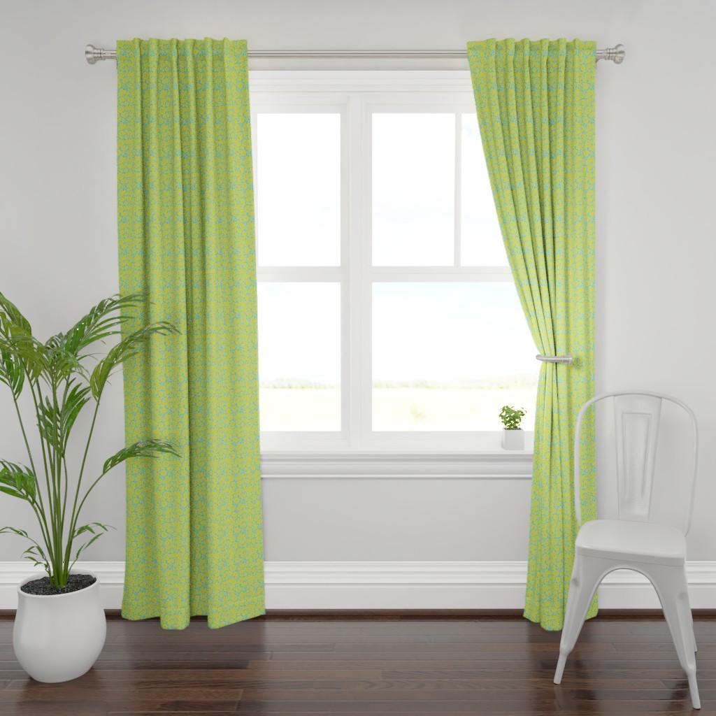 Plymouth Curtain Panel featuring Sunny field sunrise by alexmichiardi