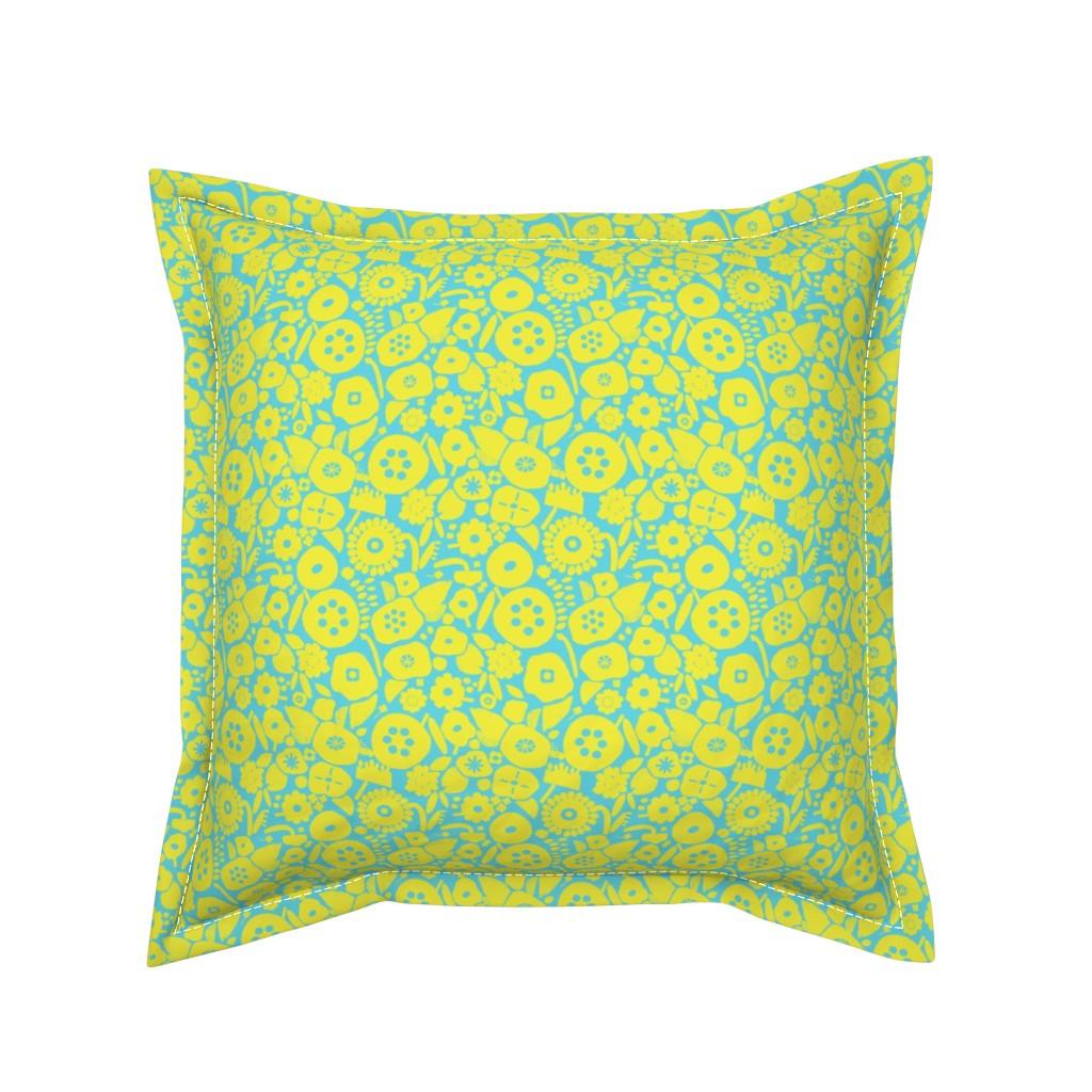 Serama Throw Pillow featuring Sunny field sunrise by alexmichiardi