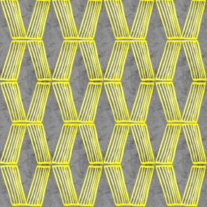 19-08x Yellow Gray Abstract Geometric