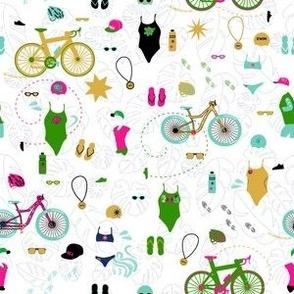 Summer time Swim Bike and Run