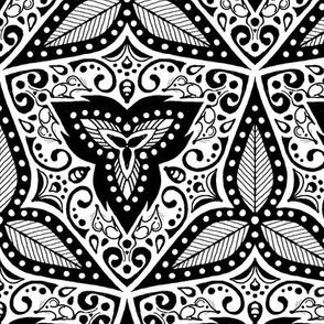 Hiding Mice - Black and White