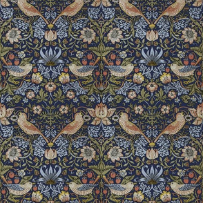 William Morris ~ Strawberry Thief ~ Original Blue ~ Medium