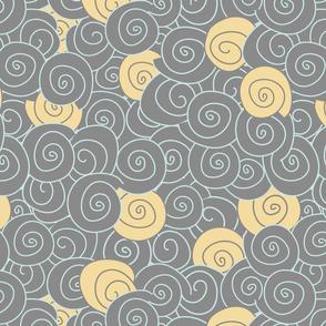 Minimalist waves. grey yellow-01