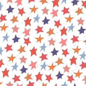 Paper cut Starfish M+M Reds by Friztin