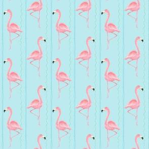 flamingo stripe light blue