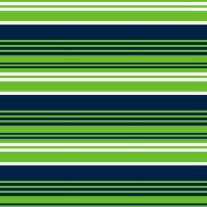 The Navy and the Green: Small Horizontal Stripes