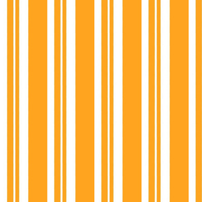 Dapper Vest Stripes Orange - Adult