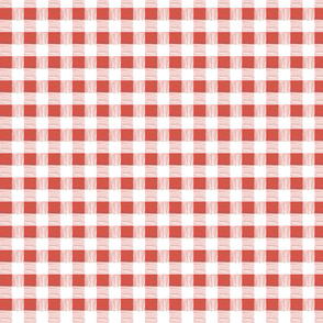 gingham-strawberry red