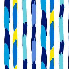 Paper Straws in Blue Yellow