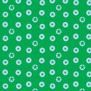 Blue on green stars by Kaorina