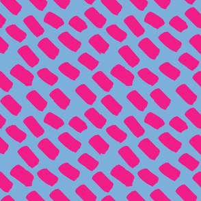 hot pink and light blue dash SMALL