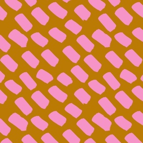 pink and mustard dash SMALL