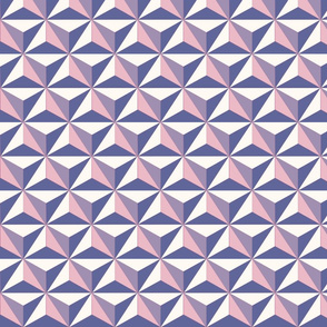 Spaceship Triangle Print - Purple Pink Small