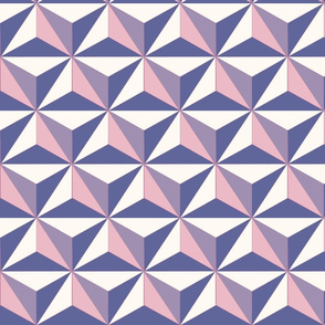 Spaceship Triangle Print - Purple Pink Large