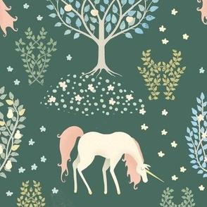Unicorn Forest in Deep Plum