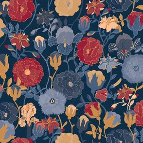 Renaissance florals and birds