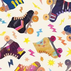 Rockabilly Cherries on Leopard Print - Tan Background