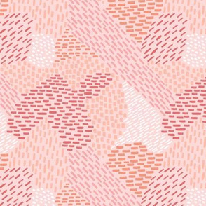 abstract brush strokes, coral, salmon, pink, peach