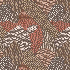 abstract brush strokes, tan, salmon, peach, brown