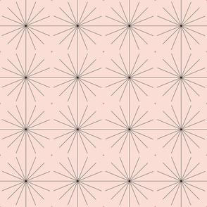 Nineteen Sixty Starburst: Pink Champagne & Black MCM Geometric