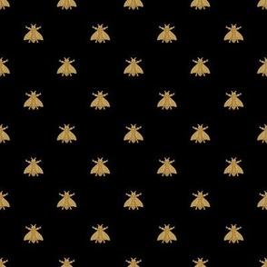 Napoleonic Bees ~ Faux Gilt on Blackest Black ~ Small