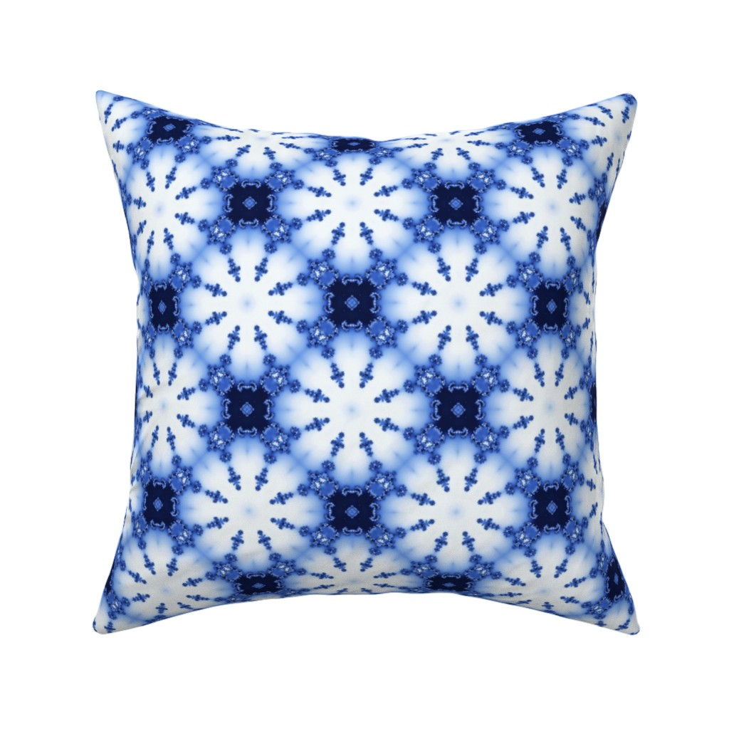 Catalan Throw Pillow featuring Fractal Shibori by nadyabasos