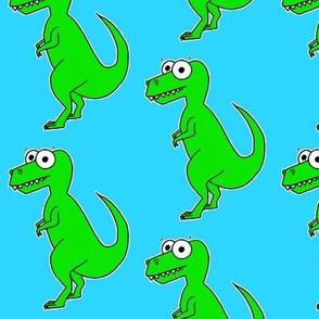 Cute T-Rex on blue