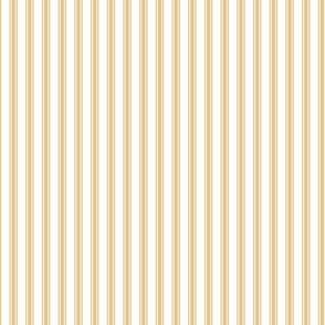 Ticking Stripe in Sunflower