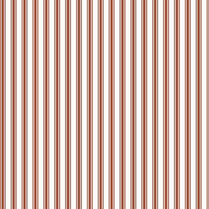 Ticking Stripe in Paprika