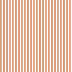 Ticking Stripe in Pumpkin
