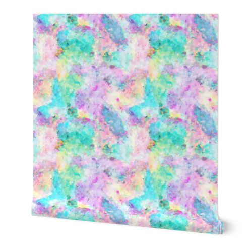 8799322 abstract rainbow soft watercolour paint splatter large by caja design