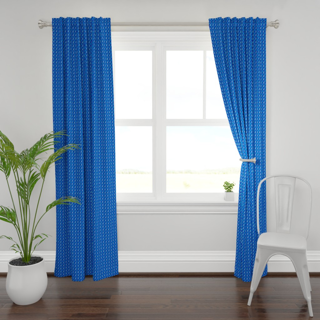 Plymouth Curtain Panel featuring Midnight cacti by alexmichiardi