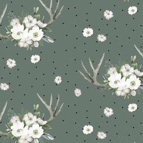 "4"" Rustic Lodge Florals // Corduroy Green"