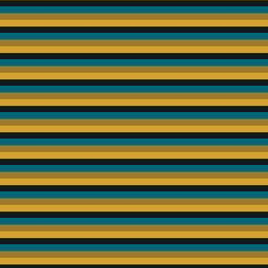 The Gold the Black and the Teal - Little Horizontal Stripes