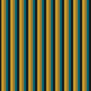 The Gold the Black and the Teal - Little Vertical Stripes