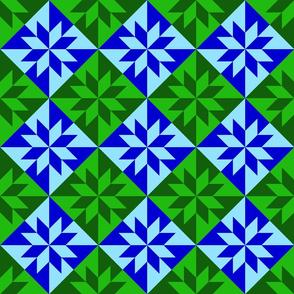 Harlequin - Blue Green 3
