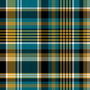 The Gold the Black and the Teal: Plaid with White